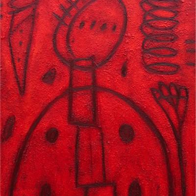 Angelita. Óleo s/tela. 180 x 140 cm