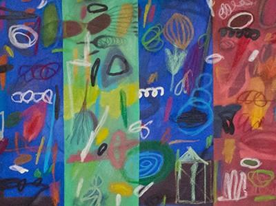 Sarapes22, óleo sobre tela, 60x240cm